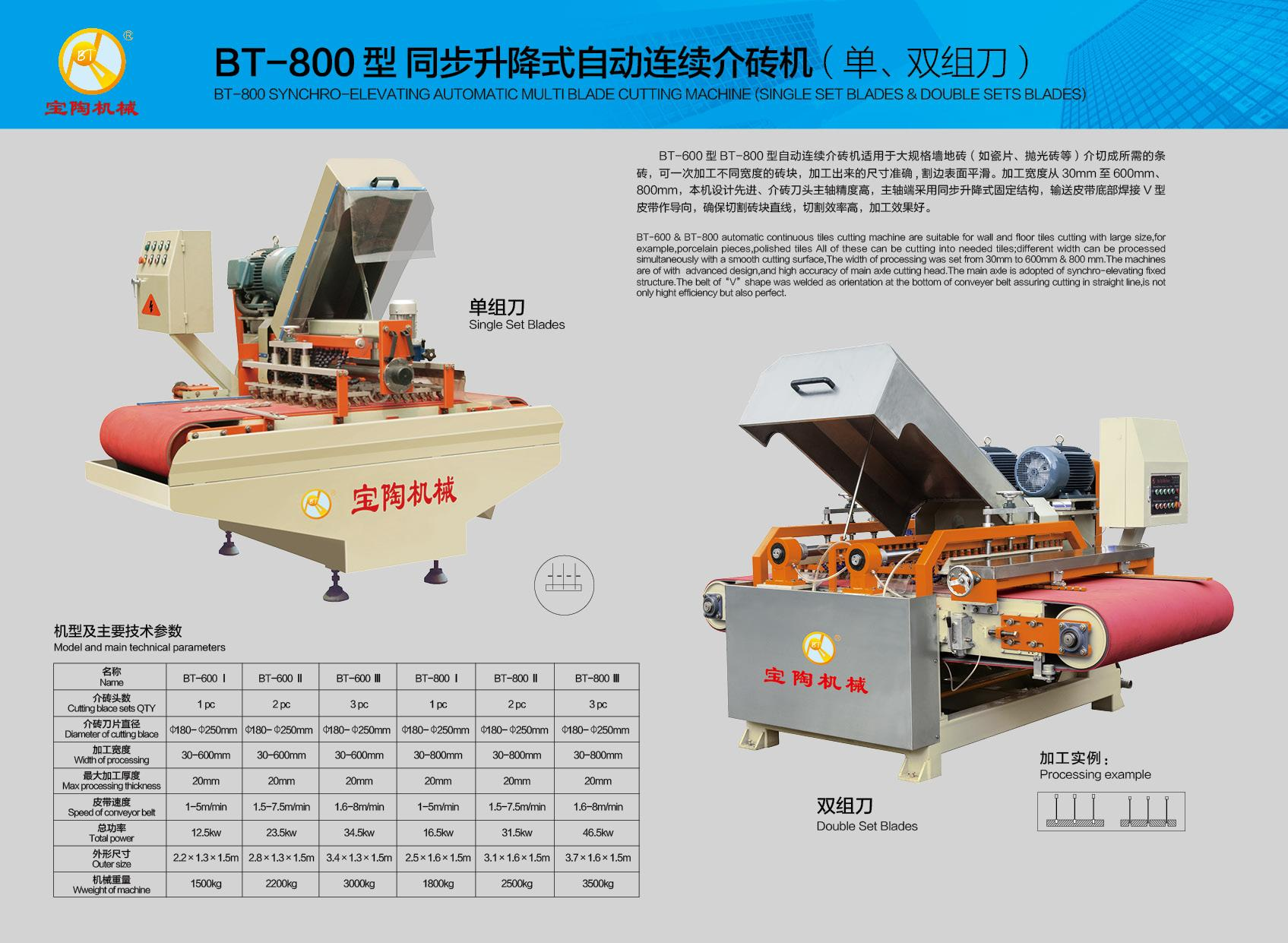 BT1200 Gantry Wet Tile Cutting Machine 2 HEADS for Mozaic Kitchen Subway Tile