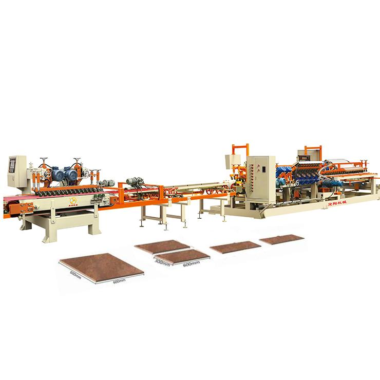 wet type glazed tile cutting grinding chamfering product line machines